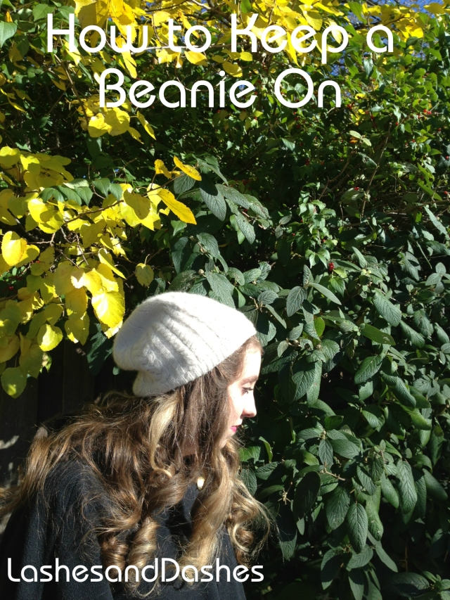 How to Keep a Beanie on via LashesandDashes