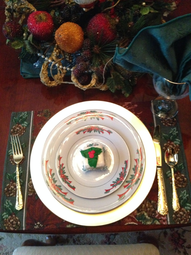 Christmas Place Settings via LashesandDashes