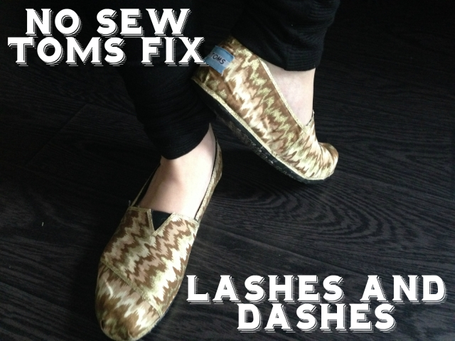 No Sew Toms Fix via LashesandDashes