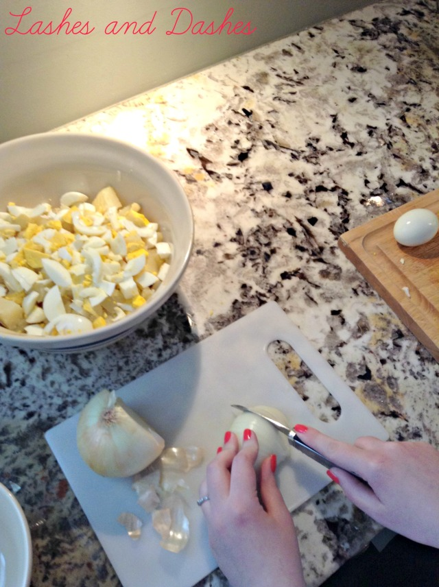 Great Grandmas Potato Salad via LashesandDashes