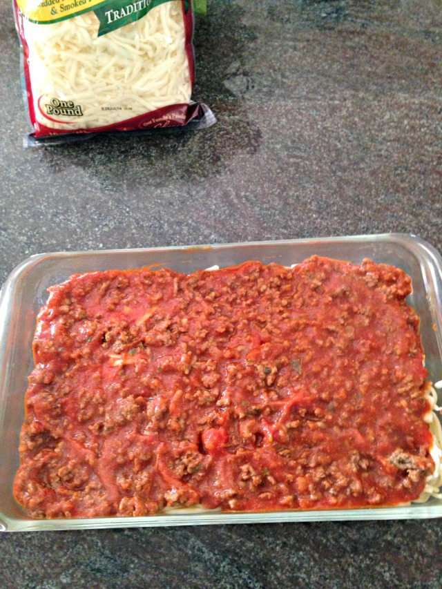 Spectacular Spaghetti Pie via LashesandDashes