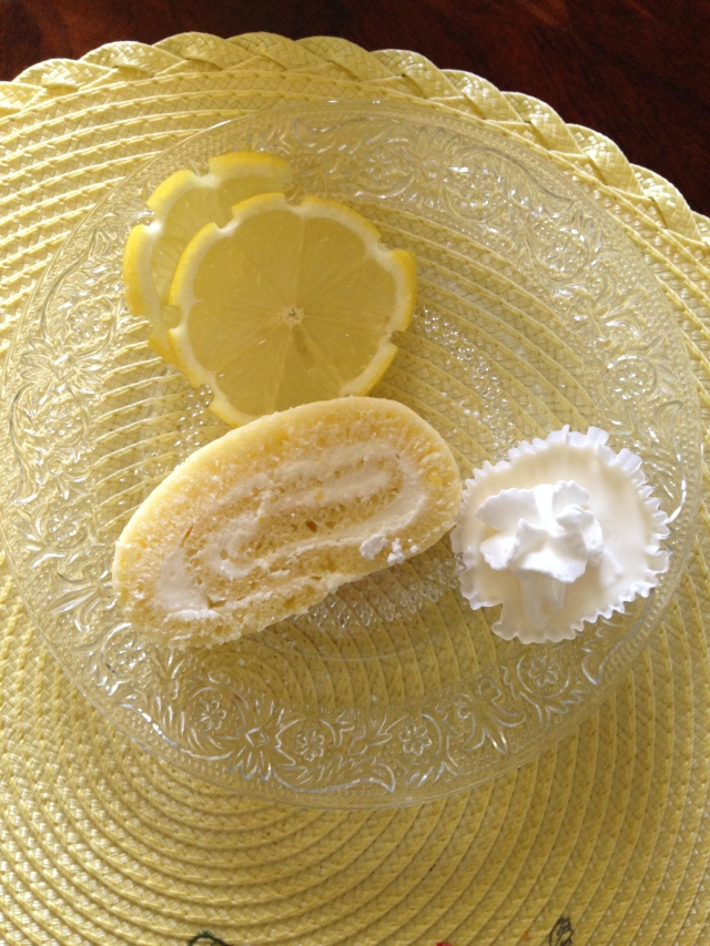 Lemon Roll Cake via LashesandDashes