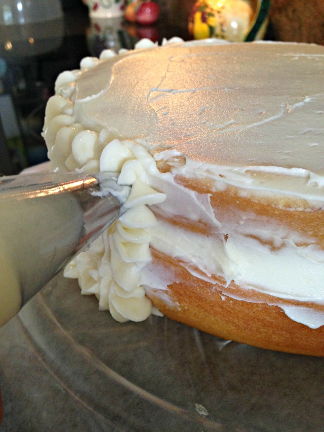 Almond Cake with Almond Buttercream via LashesandDashes