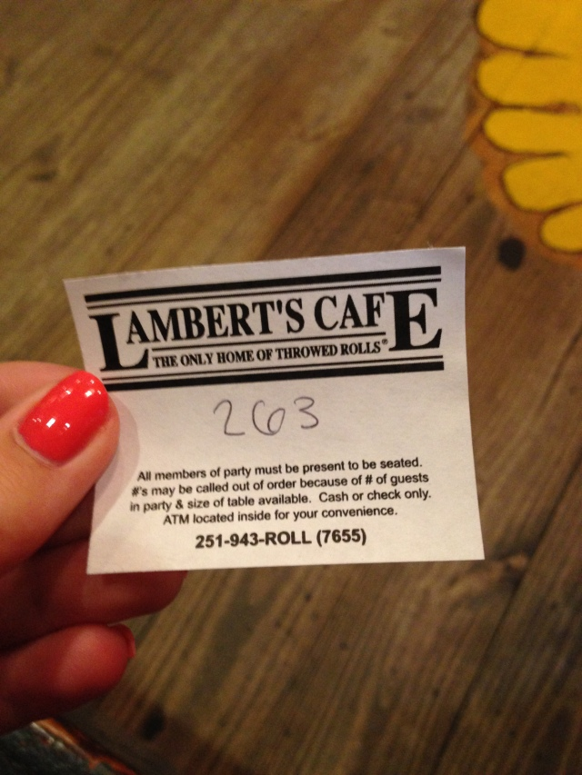 Lambert's Cafe in Foley Alabama